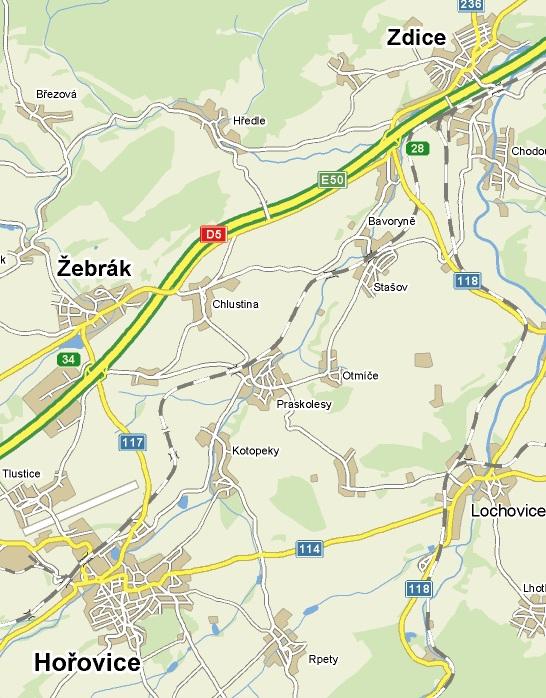 mapa Praskolesy